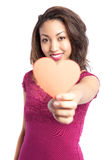 Valentine girl. A portrait of a beautiful black valentine girl Stock Images