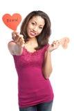 Valentine girl Royalty Free Stock Photography