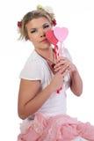 Valentine girl Royalty Free Stock Photos