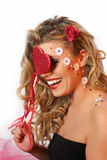 Valentine girl Stock Images
