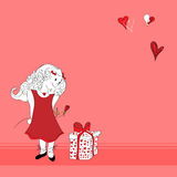 Valentine Girl Royalty Free Stock Photos