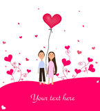 Valentine Girl And Boy Stock Photo