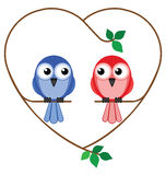 Valentine girl and boy Stock Images
