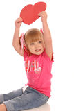 Valentine girl1 Stock Image