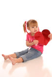 Valentine girl2 Stock Photography