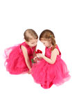 Valentine Girls Royalty Free Stock Photo