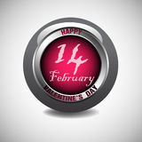 Valentine glossy button royalty free stock photos