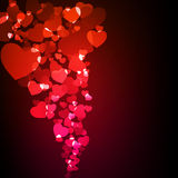 Valentine glowing background. EPS 10 Royalty Free Stock Photography