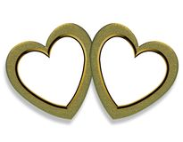 Valentine Gold Hearts Frame  Royalty Free Stock Photo