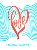Valentine gold love heart glitter pattern card Stock Photography