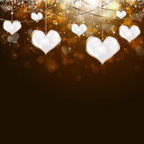 Valentine Golden Background Illustration Stock