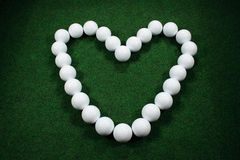 Valentine golf Stock Photos