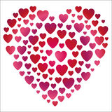 Valentine gradient heart shape Royalty Free Stock Photos