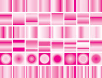 Valentine gradient pink background set stock illustration