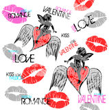 Valentine Graphic. A illustration of Valentina Graphic Design Stock Images