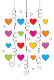 Valentine greeting card 02. Vector, editable and scalable greeting card with hearts Stock Photo