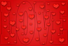 Valentine Greeting Card Royalty Free Stock Photo