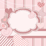 Valentine greeting card Royalty Free Stock Photography