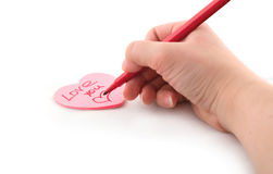 Valentine greeting card Stock Photography