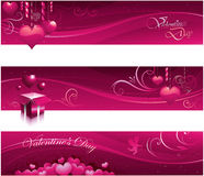 Valentine greeting card banners Royalty Free Stock Photos
