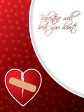 Valentine greeting card with broken heart Stock Photos