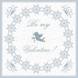 Valentine greeting card with cupid Royalty Free Stock Photo