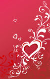 Valentine greeting card with heart Royalty Free Stock Photography