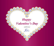 Valentine greeting card with heart composed from d Stock Image