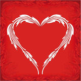 Valentine greeting card with heart and florals Royalty Free Stock Photo