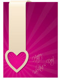 Valentine greeting card with heart label Royalty Free Stock Photography