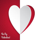 Valentine greeting card with heart paper peel Royalty Free Stock Images