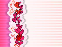 Valentine greeting card with hearts Royalty Free Stock Images