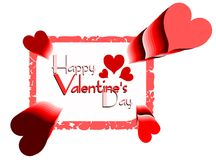Valentine greeting card with hearts Stock Images