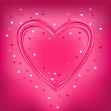 Valentine greeting card with love heart , vector Royalty Free Stock Images
