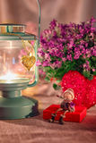 Valentine greeting card - rendezvous Royalty Free Stock Photos