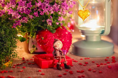 Valentine greeting card - rendezvous Royalty Free Stock Images