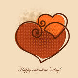 Valentine greeting card Royalty Free Stock Photo