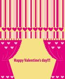 Valentine greeting card wiht hearts Royalty Free Stock Images