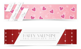 Valentine Greeting Cards Banners Royalty Free Stock Images