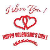 Valentine greeting Stock Photos