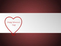 Valentine greeting with heart shaped paper clip Stock Photos