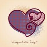 Valentine Greeting-kaart Stock Afbeelding