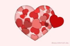 Valentine Greeting kort arkivfoto