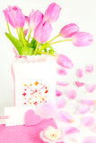 Valentine greeting, mothers day surprise Royalty Free Stock Photos