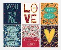 Valentine greeting set Royalty Free Stock Photography