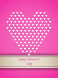 Valentine greeting with small white hearts Stock Photo