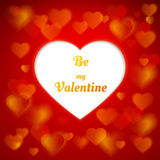Valentine greetings on a background of beautiful hearts Royalty Free Stock Images