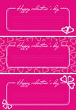 Valentine greetings card. With hearts in purple background Royalty Free Stock Photo