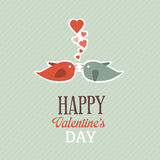 Valentine Greetings Card Image libre de droits