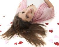 Valentine Greetings dal pavimento Fotografia Stock Libera da Diritti